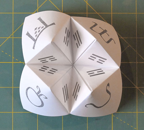 how to make a paper fortune teller and basil pesto byopia press. Black Bedroom Furniture Sets. Home Design Ideas