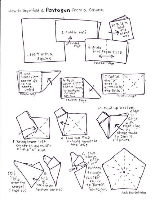 She Even Drew A Map Of The Fold Pattern If You Are Kind Person Who Does Origami From Patterns Can Download Pdf Her Here