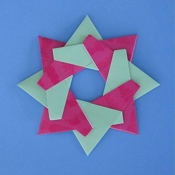 Origami Star Diagram - Robin Star | 598x600